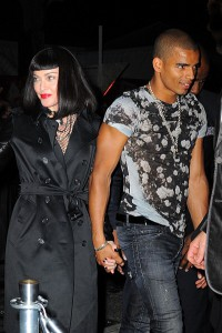 "NEW YORK, NY - MAY 06:  Madonna and Brahim Zaibat attend the 'PUNK: Chaos To Couture' Costume Institute Gala after party at The Standard hotel PUNK: Chaos To Couture"" Costume Institute Gala after party on May 6, 2013 in New York City.  (Photo by Raymond Hall/FilmMagic)"