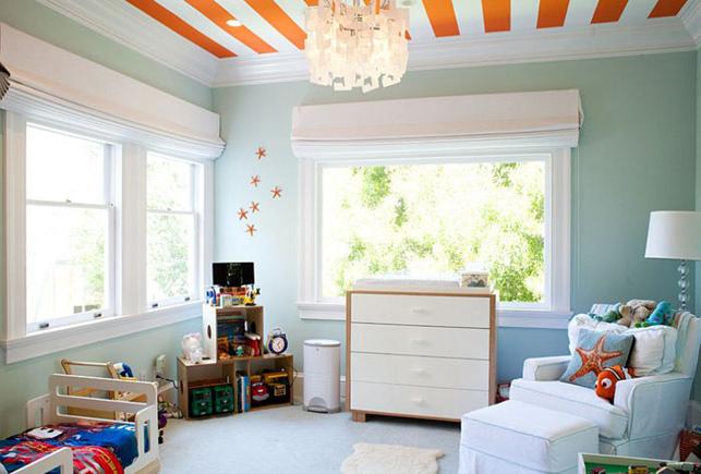 Яркий полосатый потолок от Artthaus by Riaz Taplin