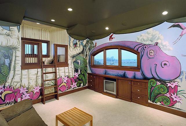 Тёмный потолок от Cramer Kreski Designs