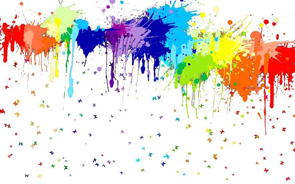 Spray Gun Colourful Paint