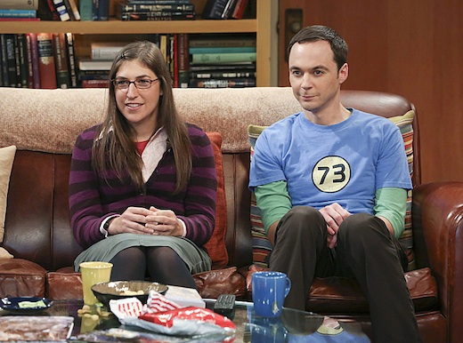 """The Raiders Minimization"" -- Sheldon (Jim Parsons, right) seeks revenge after Amy (Mayim Bialik, left) ruins one of his favorite movies, on THE BIG BANG THEORY, Thursday, Oct. 10 (8:00 ?????? 8:31 PM, ET/PT) on the CBS Television Network. Photo: Michael Yarish /Warner Bros. ???©2013 Warner Bros. Television. All Rights Reserved."