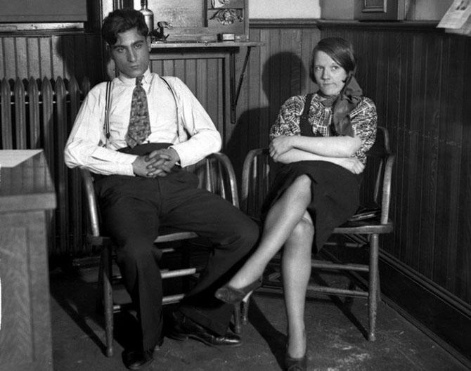 Арестованные любовники-убийцы – Маргарет Келли и Френк Палумбо, 1932 год