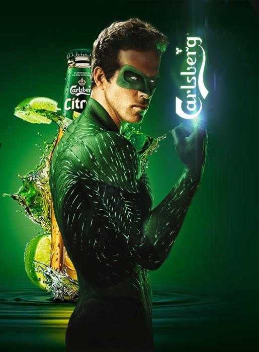 Зеленый Carlsberg.