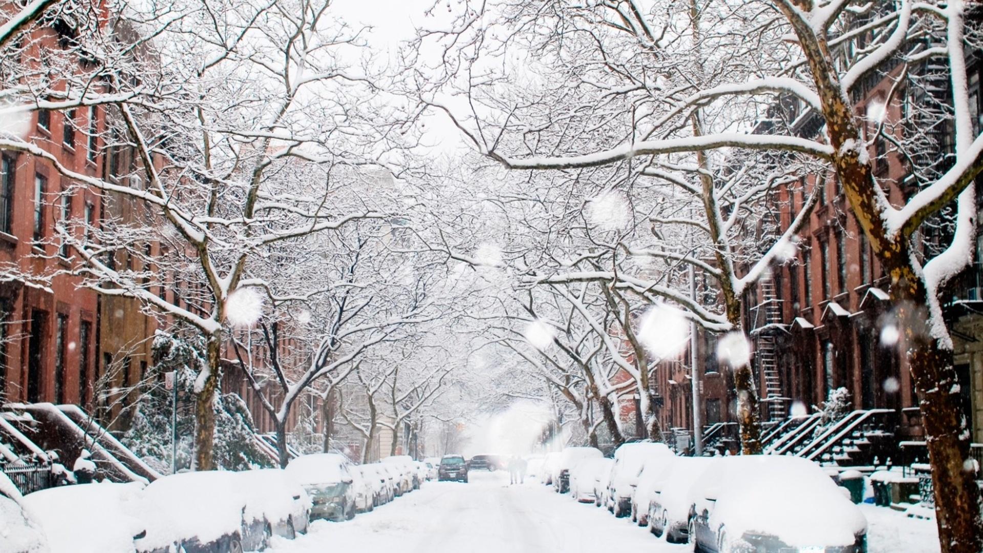 Картинки города во время зимы