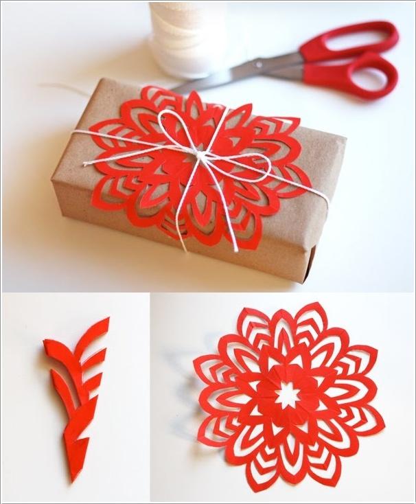 Новогодний подарок из бумаги
