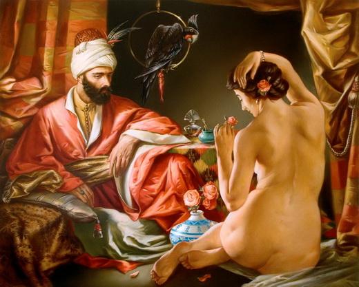 Групповой секс в покоях султана
