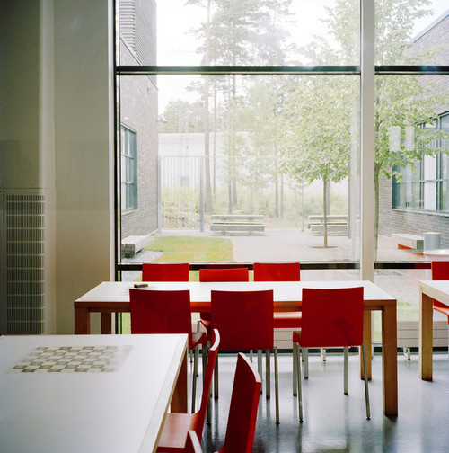 Halden Prison, Norway, June 2014: The lunch-and-break room in he classroom building. -- No commercial use -- Photo: Knut Egil Wang/Moment/INSTITUTE