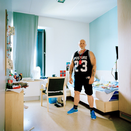 Halden Prison, Norway, June 2014: Tom in his cell in C8, a special unit focused on addiction recovery. -- No commercial use -- Photo: Knut Egil Wang/Moment/INSTITUTE