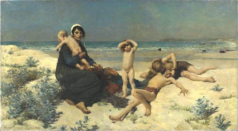 Demont-Breton-la-plage