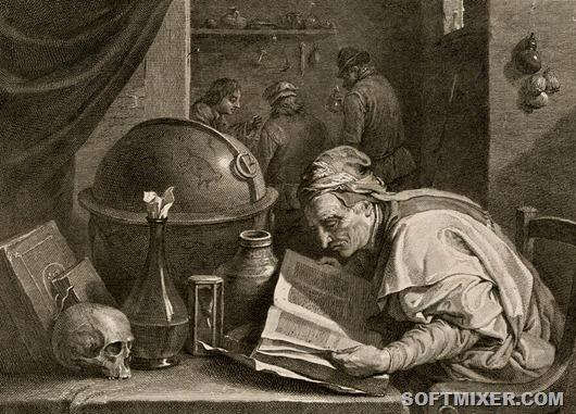 Dochtor-alchymista-David-Teniers-1690-engraved-Jacques-Nicolas-Tardieu-kolem-1700[18]