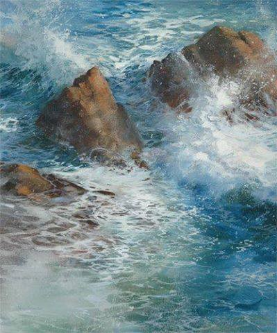 "Cindy Baron ""Water Dance"" watercolor"