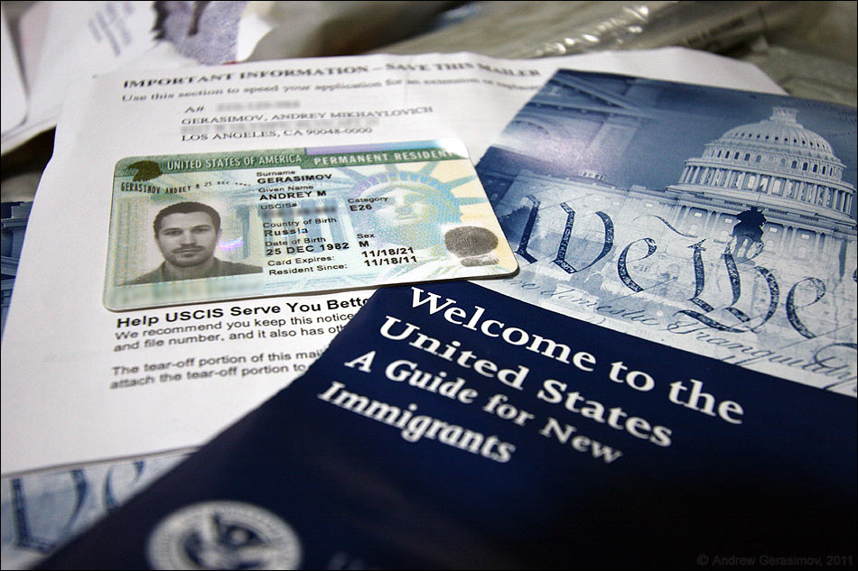 Процедура получения грин — карты для проживания в США