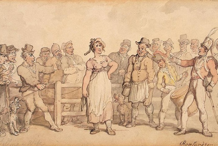 800px-Rowlandson_Thomas_-_Selling_a_Wif